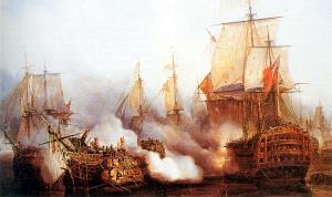 Scene from the Battle of Trafalgar