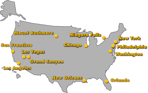 Tour Around The United States - Tour of the states
