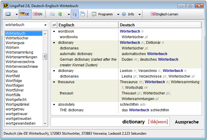 ... WordBook - English Dictionary and Thesaurus Screenshots